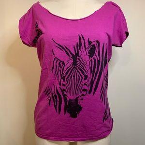 UO Scoop Neck Zebra T